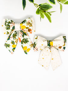*Limited Edition* Double Dog Sailor Bow | Floral Edit #3