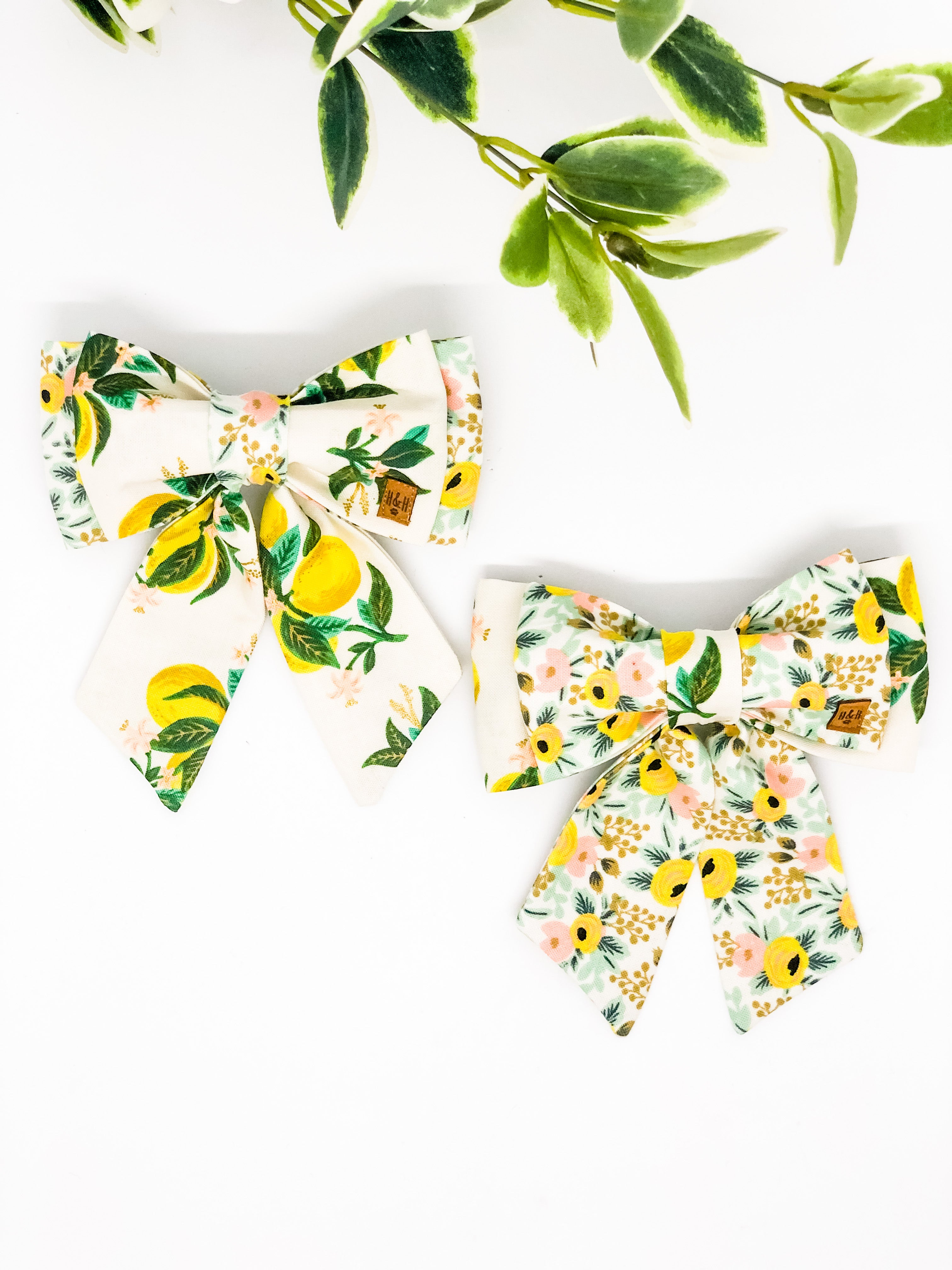 *Limited Edition* Double Dog Sailor Bow | Floral Edit #1