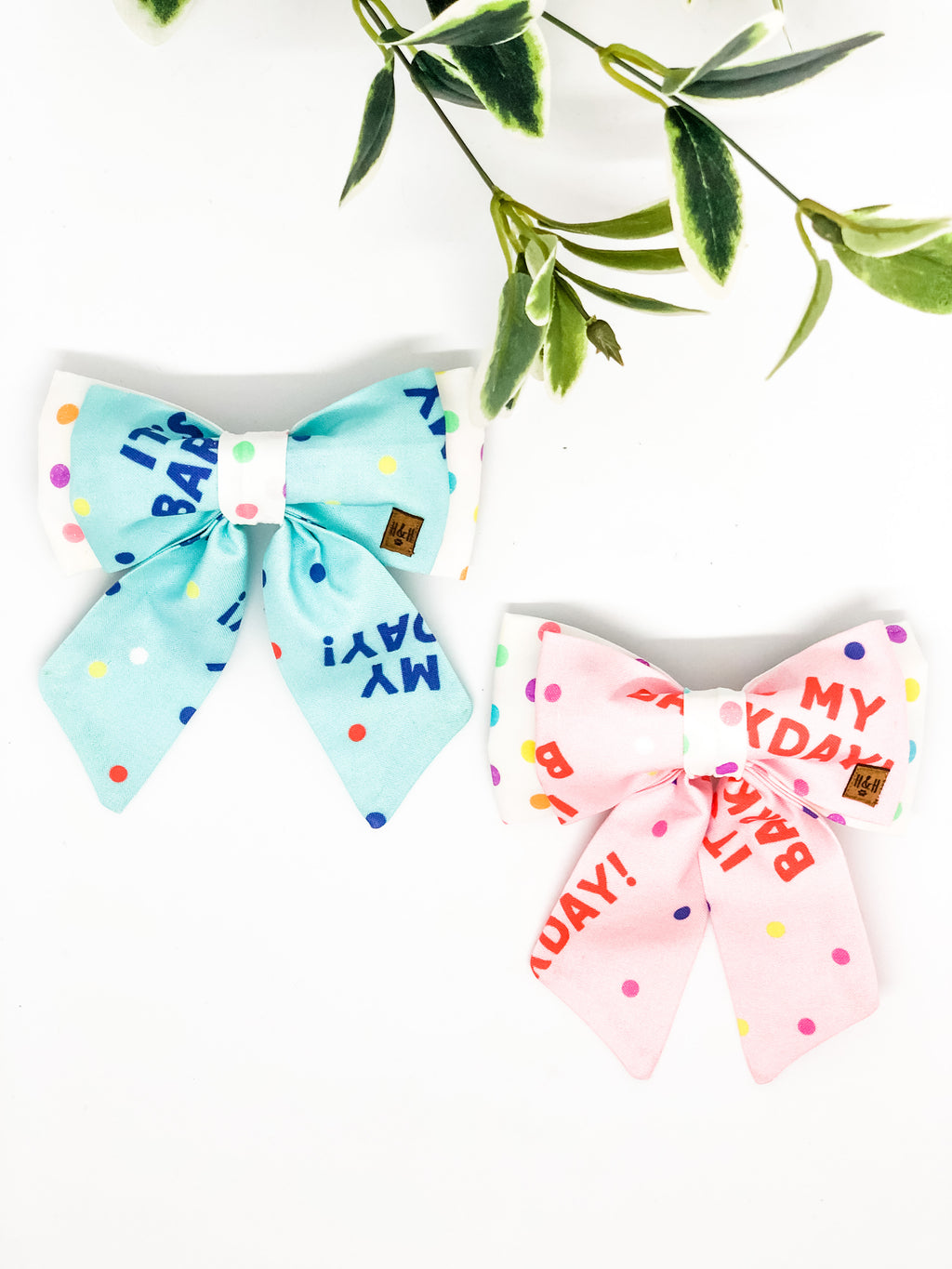 Double Dog Sailor Bow | It's My Barkday!
