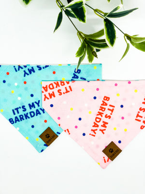 Reversible Over the Collar Bandana | It's My Barkday!