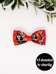 Double Dog Bow tie | ANZAC Poppies