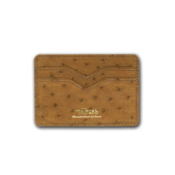 OSTRICH LEATHER CARD HOLDER
