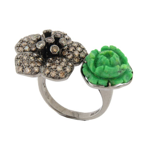 Double Blossom Ring