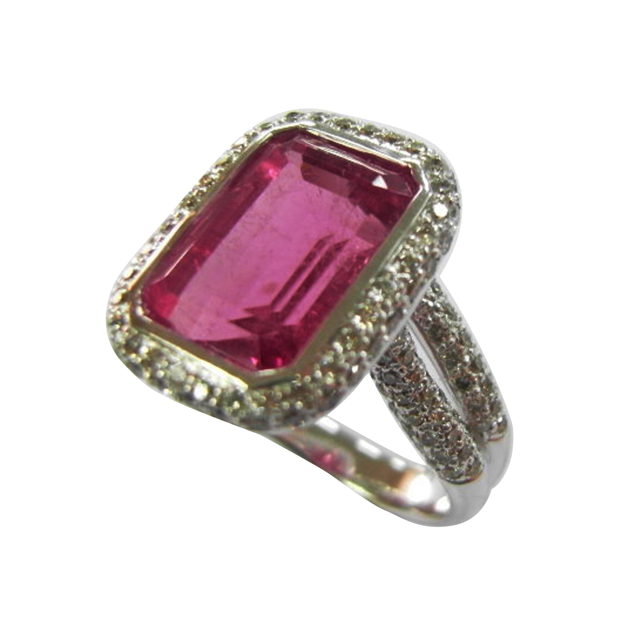Solitaire Tourmaline Ring