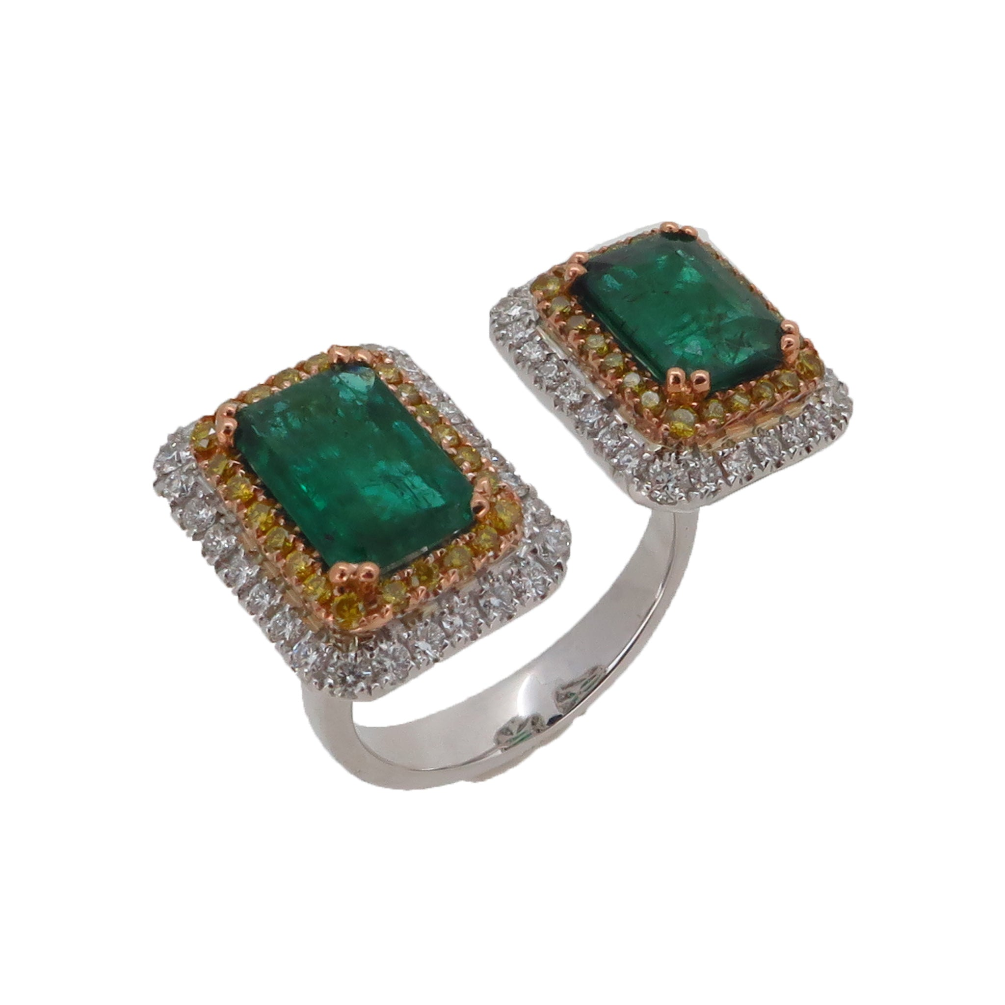 TWIN EMERALD RING