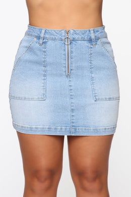 NOVA WEAR - Born With Good Jeans Mini Skirt