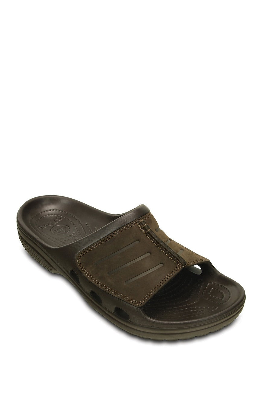 CROCS - Yukon Mesa Leather Trim Slide Sandal