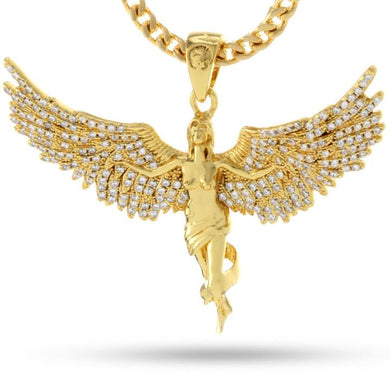 14K Gold Soaring Angel Necklace