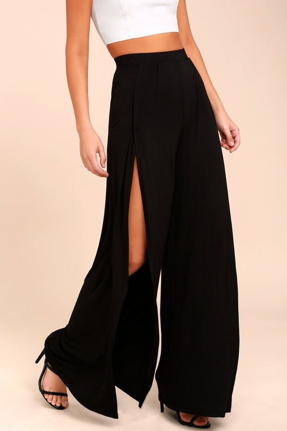 LULUS - Knockout Black Wide Leg Pants