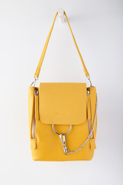 Sidewalk Stunner Mustard Yellow Backpack