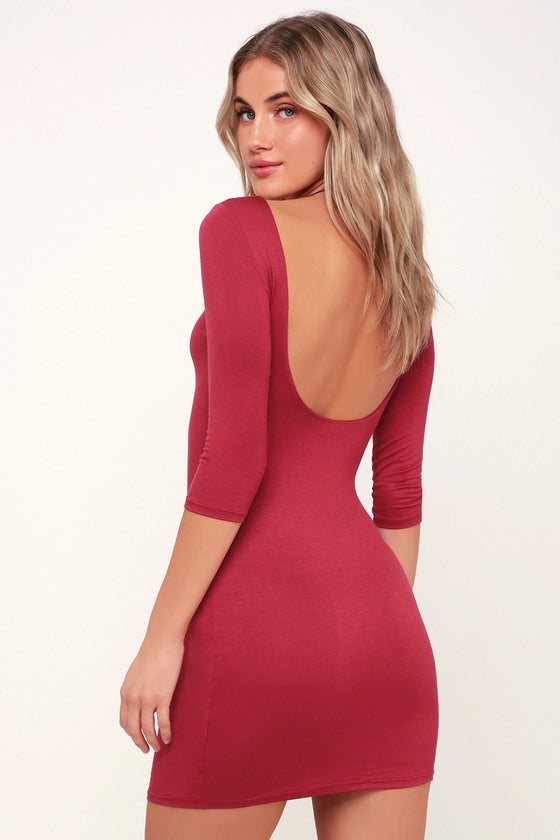 LULUS - Alone With You Black Backless Bodycon Dress