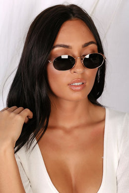 The Candy Rose Gold and Black Sunglasses