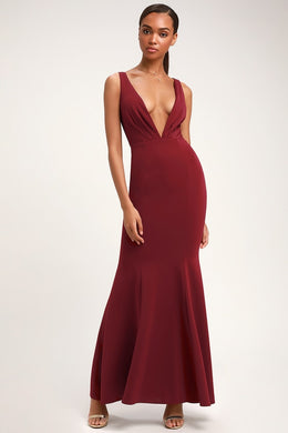 LULUS - Adelina Sleeveless Mermaid Maxi Dress