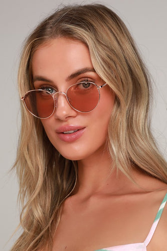 Higher Level Rose Gold Sunglasses