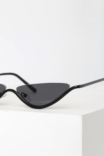 Clifton Black Mini Cat-Eye Sunglasses