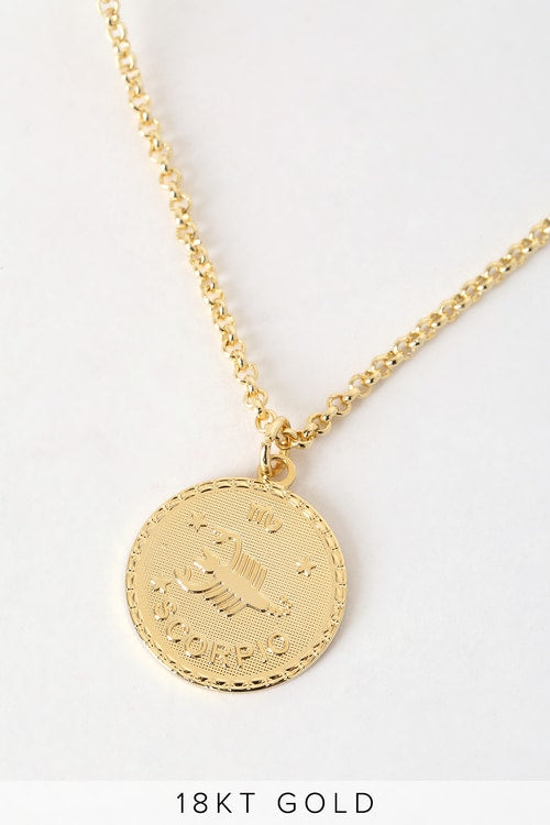 What's Your Sign? 18k Gold Scorpio Necklace