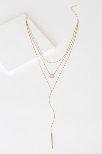 Opulent Occasion Gold Layered Necklace
