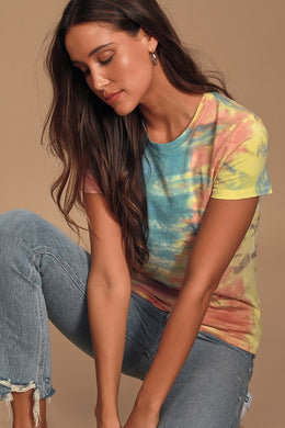 PRINCE PETER-Color Me Cute Multi Tie-Dye Short Sleeve Tee