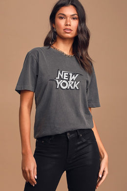 NEEMA CALIFORNIA-Andie New York Short Sleeve Graphic Tee