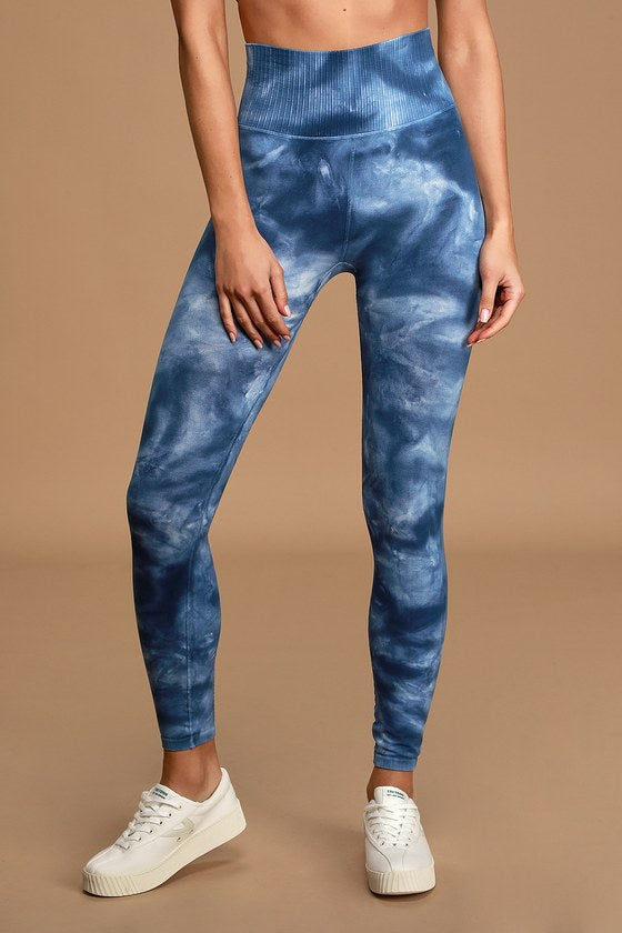 FREE PEOPLE MOVEMENT - Good Karma Washed Blue Tie-Dye Low Impact