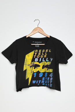 PRICE PETER-Billy Idol '84 Tour Distressed Cropped Tee