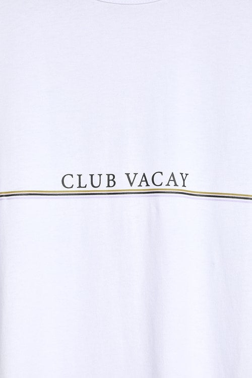 CHARLIE HOLIDAY-Club Vacay White Tee