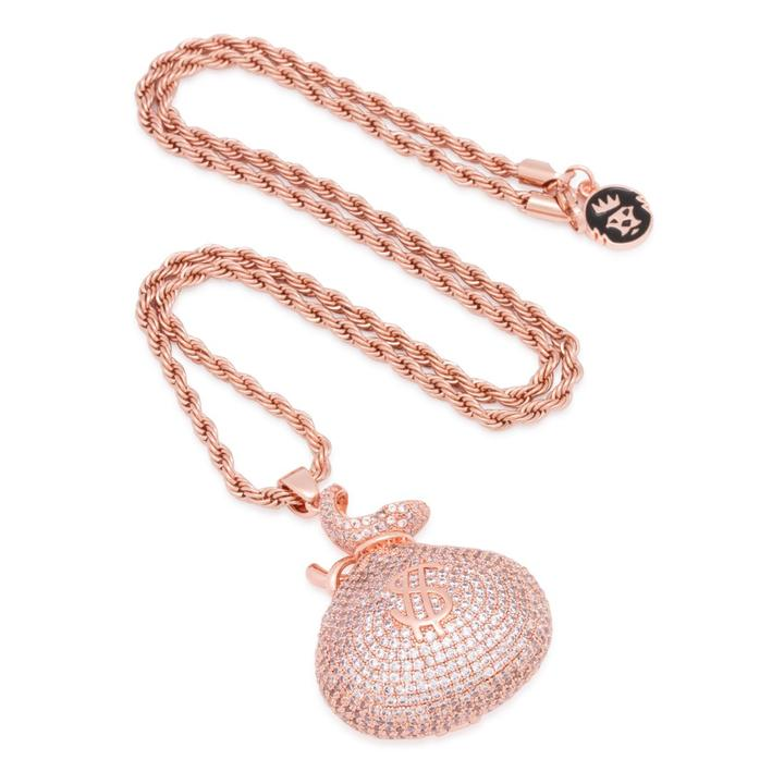 The Rose Gold Money Bag Necklace