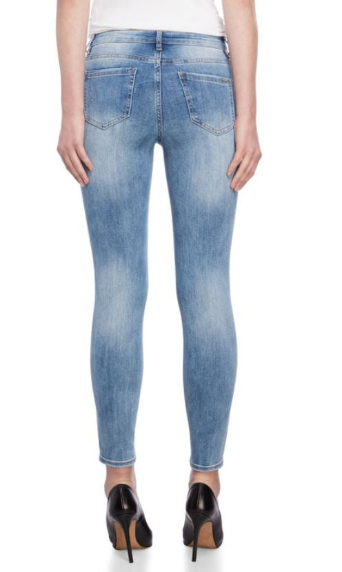 BEBE -Throne Beaded Floral Detail Skinny Jeans