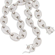 15MM White Gold Iced G-Link Chain
