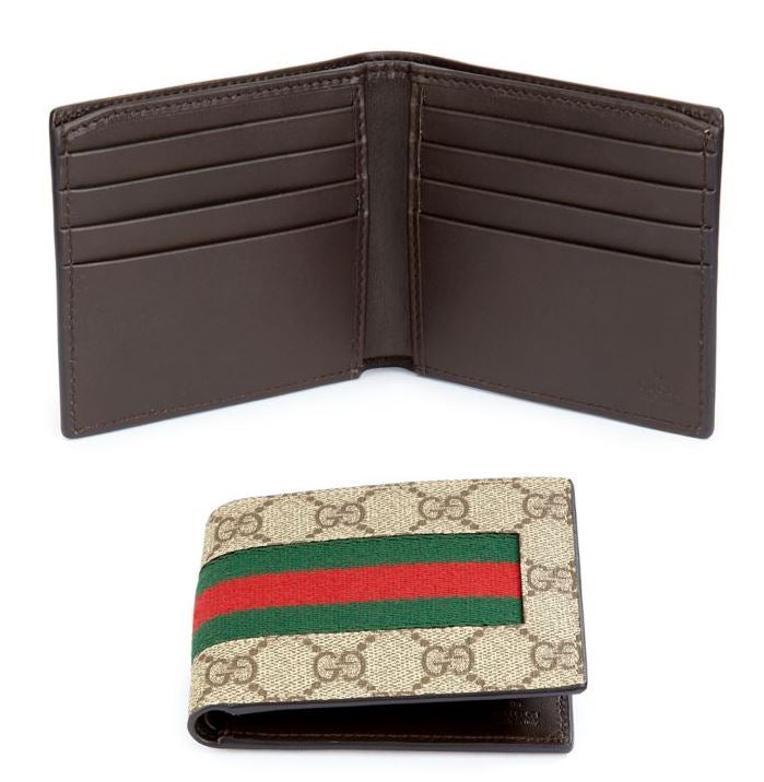 GUCCI - GG Supreme Canvas Web Bi-Fold Wallet