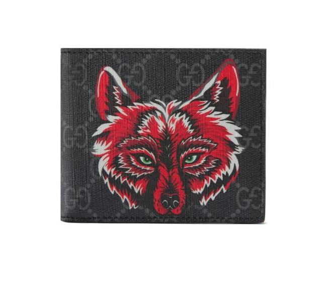 GUCCI - GG Supreme Wallet with Wolf