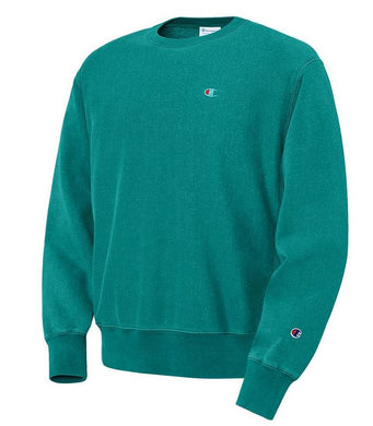 "CHAMPION - Reverse Weave Pigment-Dyed Crew Neck with ""C"" logo"