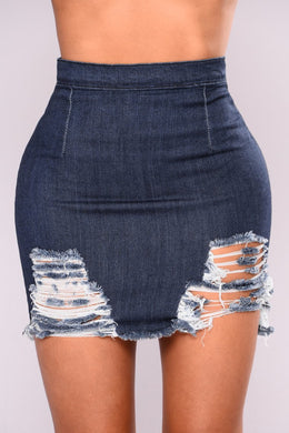 NOVA WEAR - Rags To Riches Denim Skirt