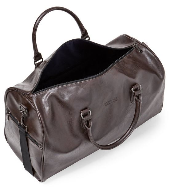 KENNETH COLE REACTION - Brown Echo Leather Duffle