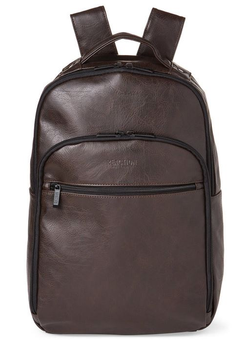KENNETH COLE REACTION - Brown Echo Slim Backpack