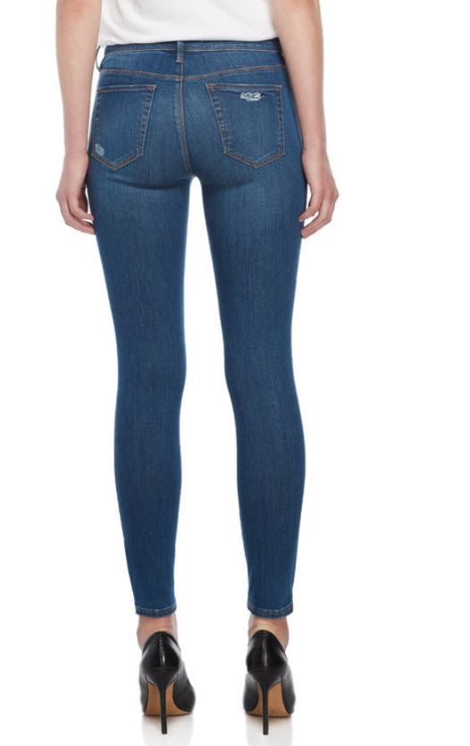 KENDALL + KYLIE - High-Waisted Distressed Legging Jeans