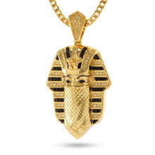 14K Gold Multi CZ Bandana Pharaoh Necklace