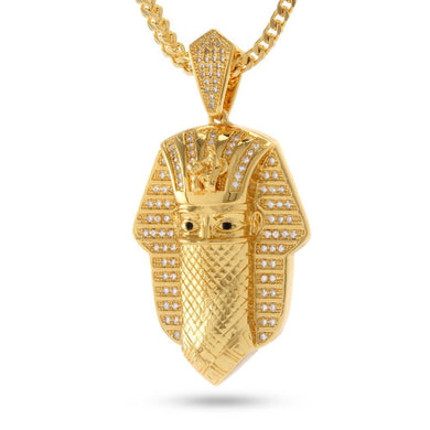 14K Gold CZ Bandana Pharaoh Necklace