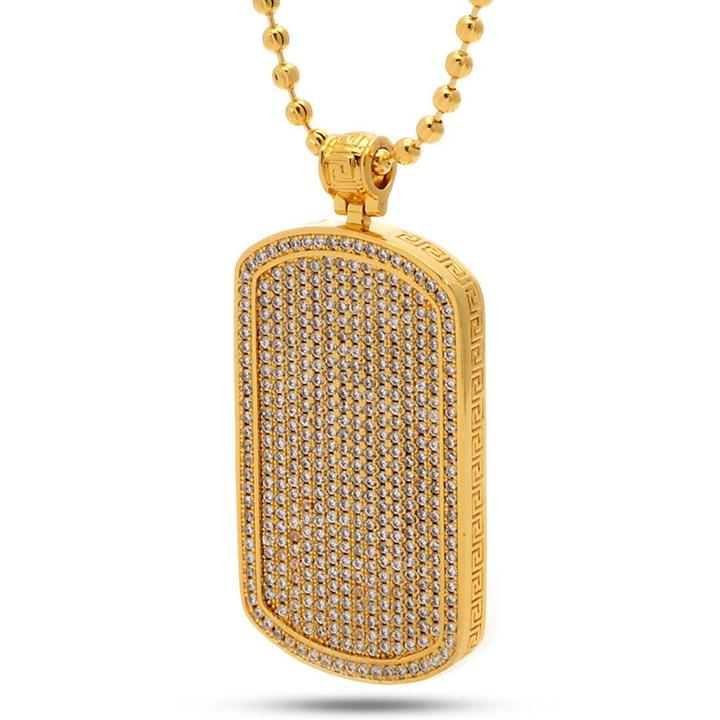 The Gold Dog Tag Necklace