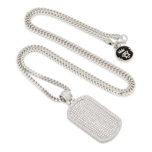 The White Gold Dog Tag Necklace