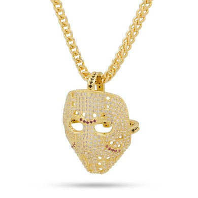 14K Gold Hockey Mask Necklace