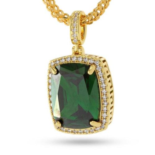 14K Gold Emerald Crown Julz Necklace