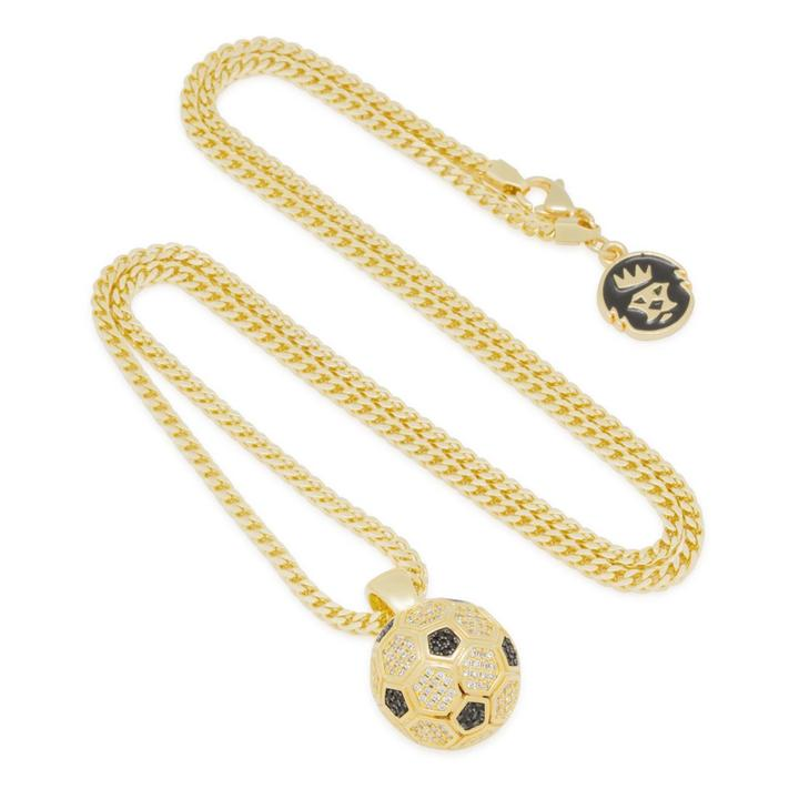 The 14K Gold Soccer Ball Necklace
