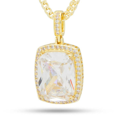 14K Gold Clear Crown Julz Necklace
