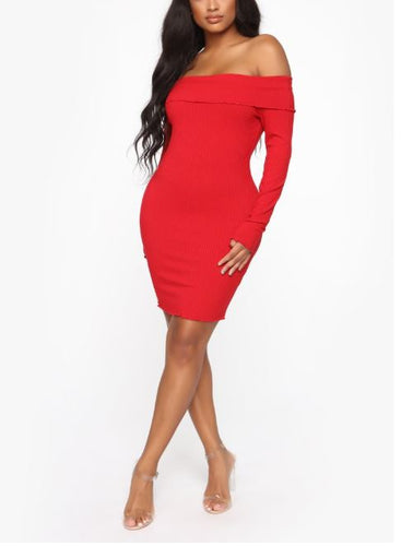 NOVA WEAR - Let It Be Off Shoulder Mini Dress