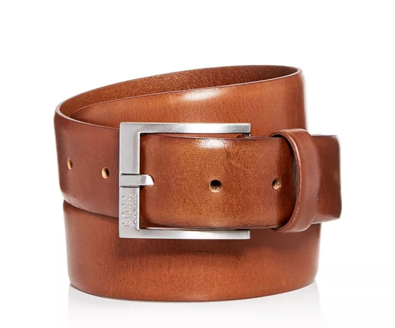 HUGO BOSS - Men's Gerron Replace Distressed Leather Belt