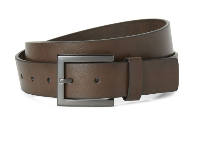 KENNETH COLE REACTION - Faux Leather Casual Belt