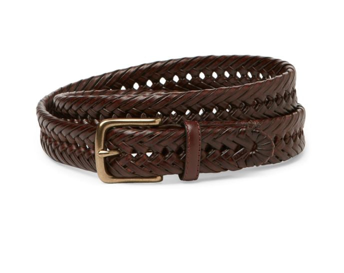 TOMMY HILFIGER - Brown Laced Basketweave Belt