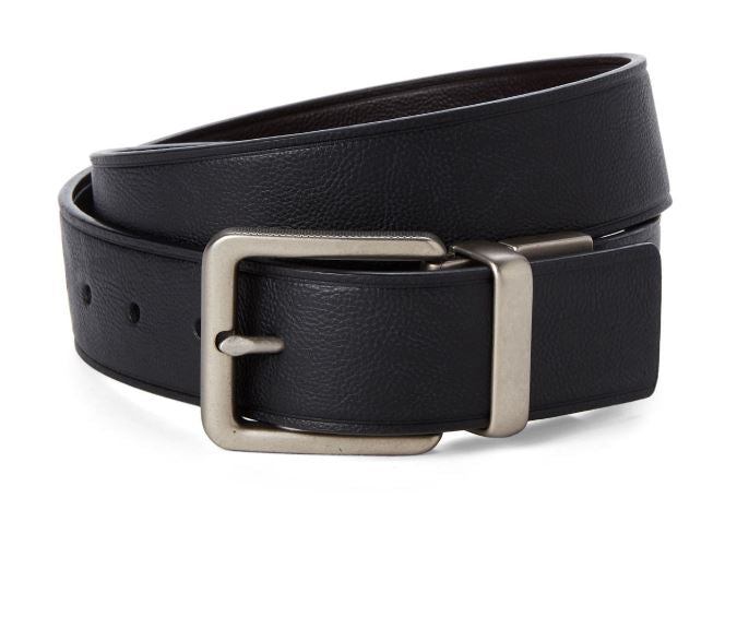 CALVIN KLEIN JEANS - Black & Brown Reversible Leather Belt