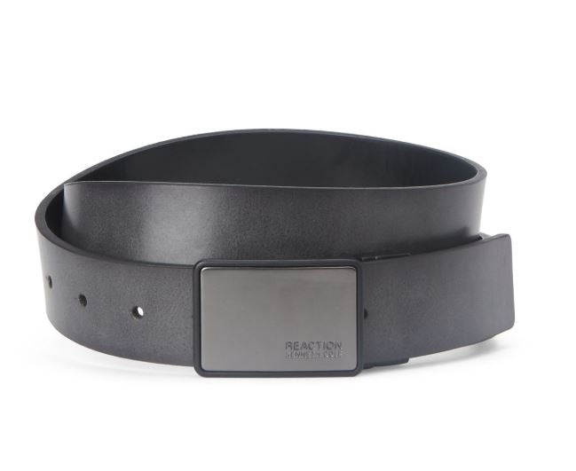 KENNETH COLE REACTION - Reversible Belt with Fixed Stud Detail